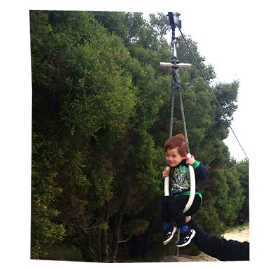 Liam on Flying Fox