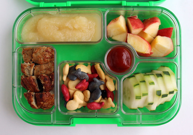 Preschool Red and White Yumbox Bento #478