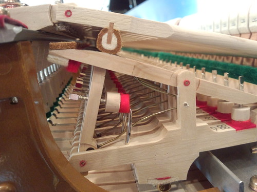 Steinway Pianos of Calgary - lots of levers -