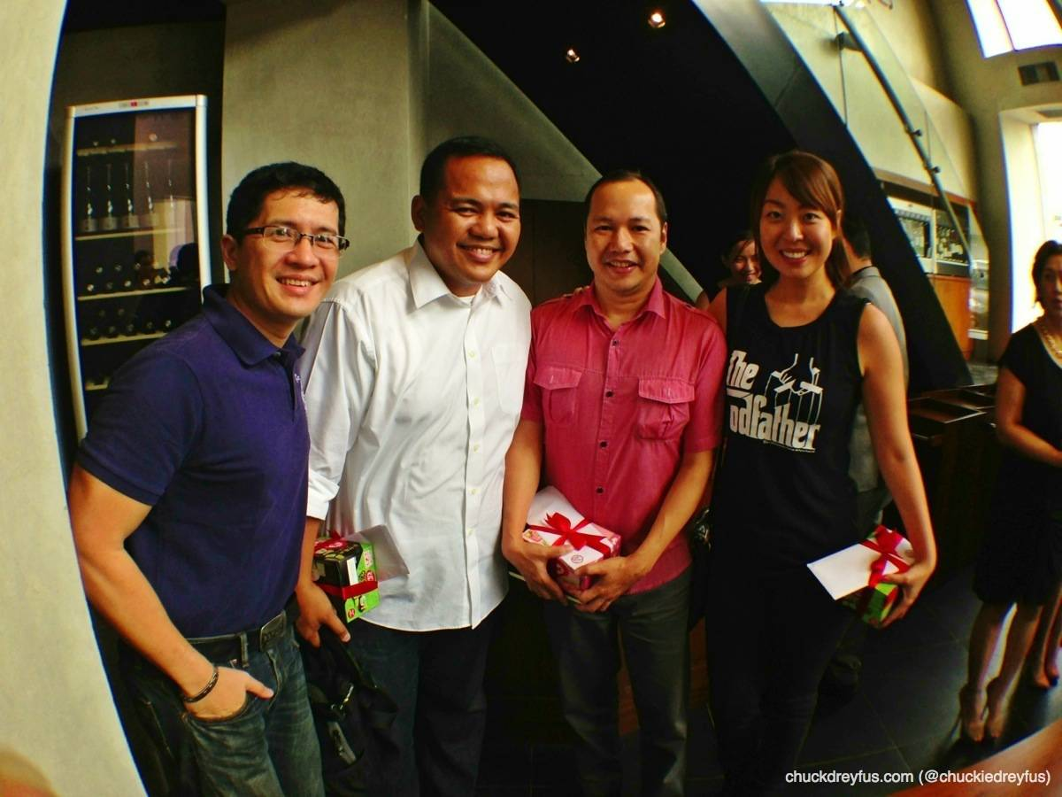 (L-R) Me, Anton Diaz (ourawesomeplanet.com), Pierre Calasanz (Associate Editor of Town & Country) and Sam Oh (Radio & TV personality)