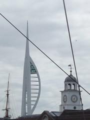 HMS Victory - Portsmouth Historic Dockyard - Quarter Deck - Spinnaker Tower
