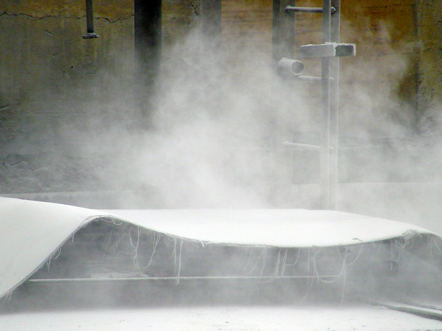 Fly-ash dust at the CSEB thermal power plant