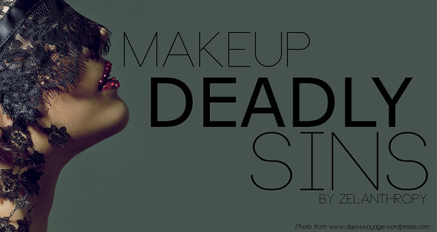 make up deadly sins, 7 deadly sins, makeup, cosmetics, beauty, zelanthropy