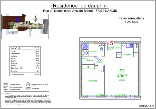 Résidence du Dauphin - Plan de vente - Lot n°15