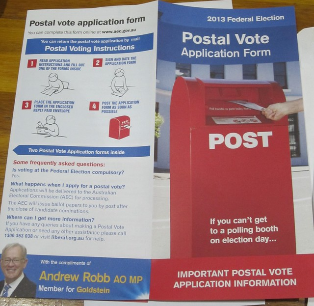 ...with party-supported postal vote info (3/3)