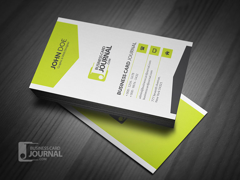 Corporate Style Vertical Business Card Template Download Flickr
