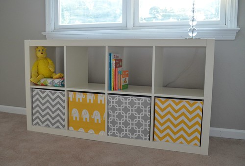 Grey And Yellow Storage Boxes