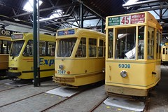 MTUB General view of an alignment of trams.