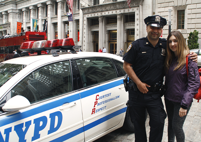 Hanging out with the NYPD