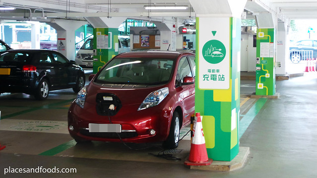 nissan leaf charging station in hong kong