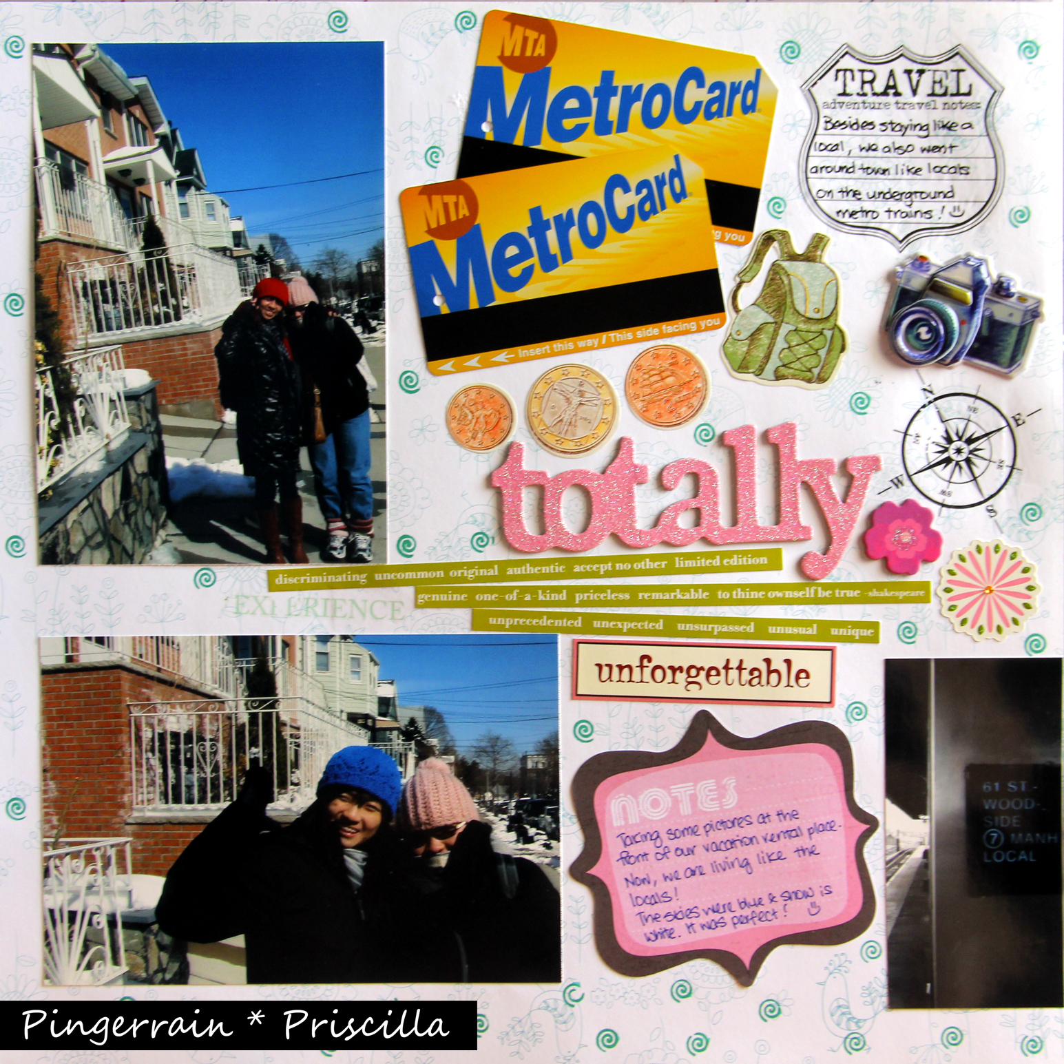 My Scrapbook Page: Our home in NYC!