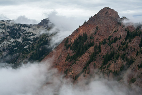 Misty Red Mountain