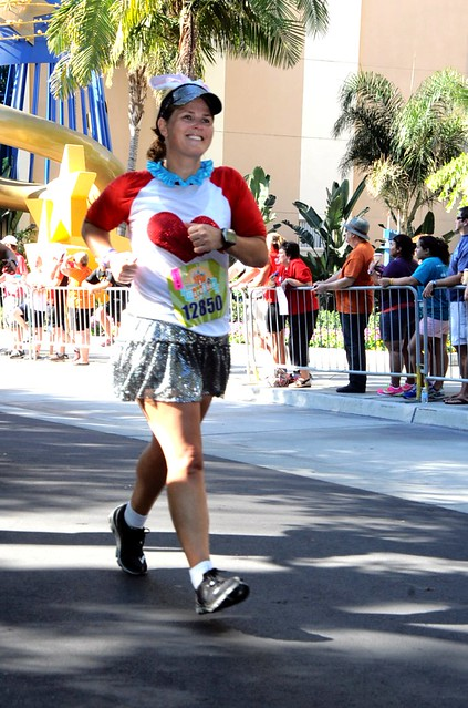 The final stretch of The Disneyland Half Marathon