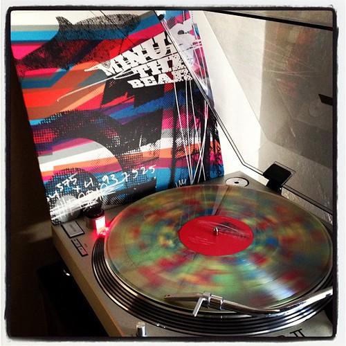 #todaysoundslikethis #sundaysounds #minusthebear #rainbowvinyl #nowspinning #theymakebeercommercialslikethis #clubrpm #vinyl #vinyligclub by Big Gay Dragon