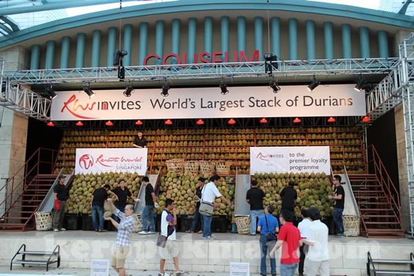 World's Largest Stack of Durian