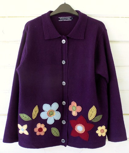 Autumn Hedgerows Applique Cardigan