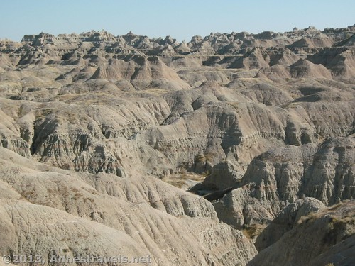 View from the end of The Door Trail, Badlands National Park, South Dakota