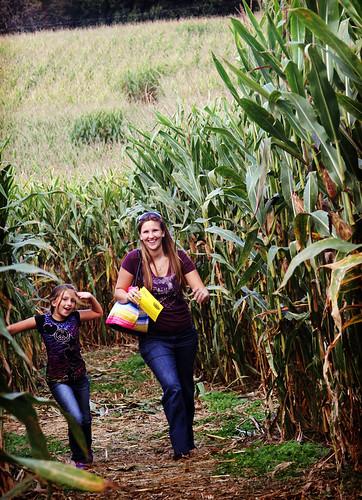 Corn maze finish