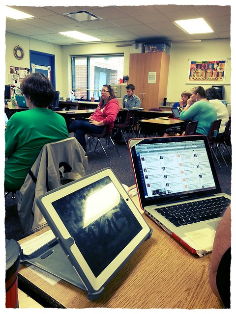 This is what teachers do on Saturday at Edcamp Des Moines. from Flickr via Wylio