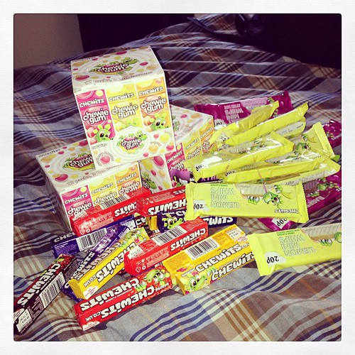 When chewits said they'd send us some samples to review alongside the #chewitscarnivalapp they weren't kidding! #review