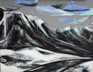 Iceland paintings: Hvert liggur thessi vegur #1