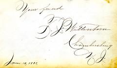 1880s Ollie's autograph album - C. J. Wittenborn, Chambersburg, NJ 9of51