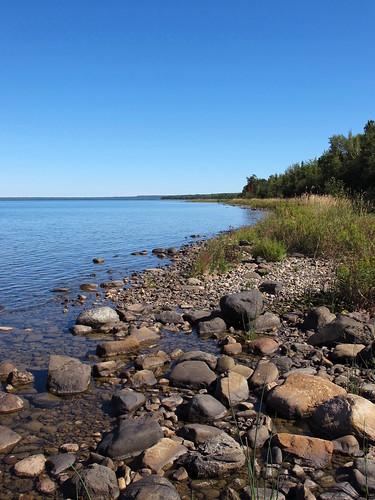 lake rocks shore manitoulin huron tenmilepoint