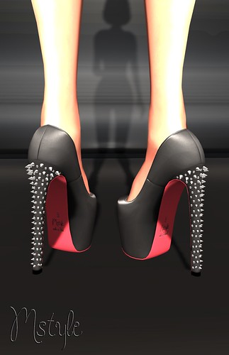 LOU Pumps - Spiked Black by Mikee Mokeev