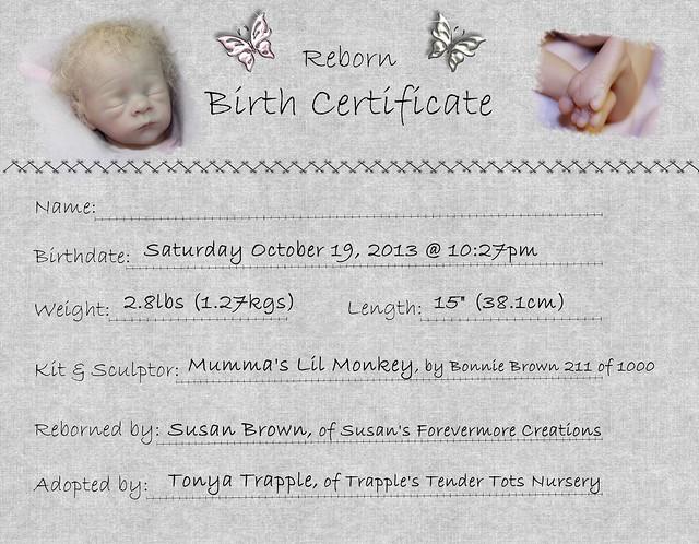 Reborn birth certificates page 001 flickr photo sharing for Reborn birth certificate