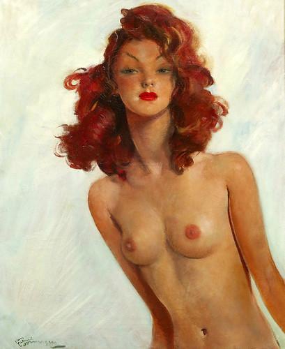 012-Modelo desnuda-Jean Gabriel Domergue
