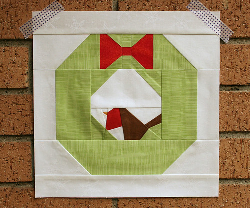 xmas wreath block 1