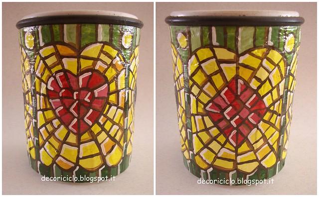 Collage 2 barattolo plastica trasparente