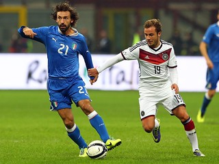Mario Götze and Pirlo