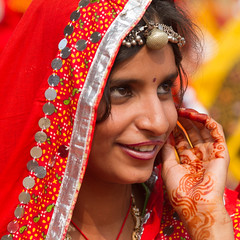 Rajasthani girl in formal dress