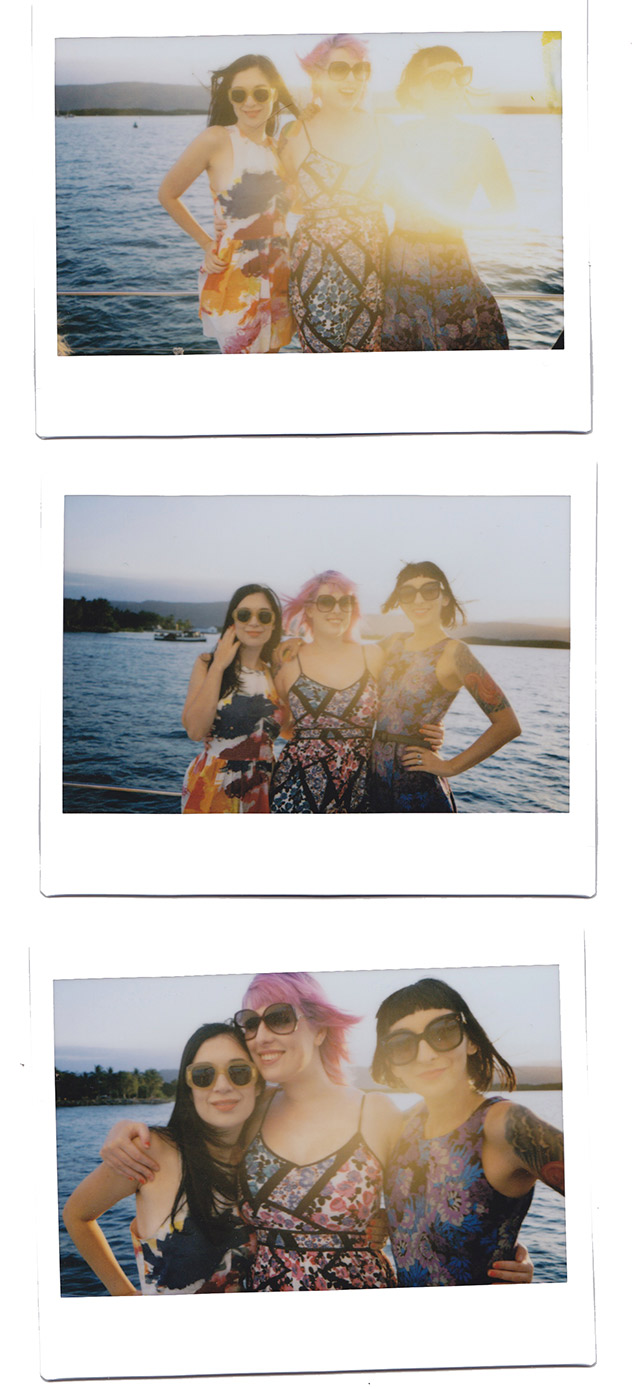 A Sunset Cruise And Three Colourful Dresses