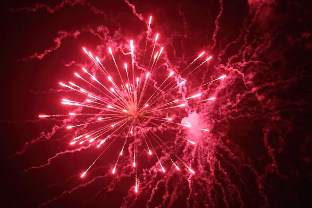 Winters vuurwerk in stadspark Leuven