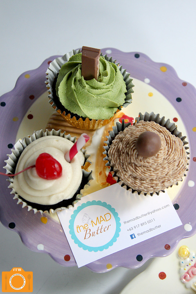 The Mad Butter cupcakes on cake stand