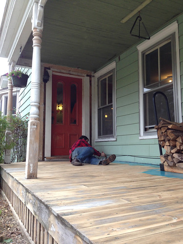 painting the porch trim