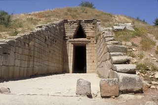 "Tholos (""beehive"") tomb (called the ""Treasury of Atreus"" or the ""Tomb of Agamemnon"")"