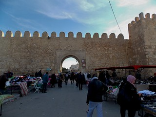 The Old City Walls of Sousse in Tunisia - December 2013