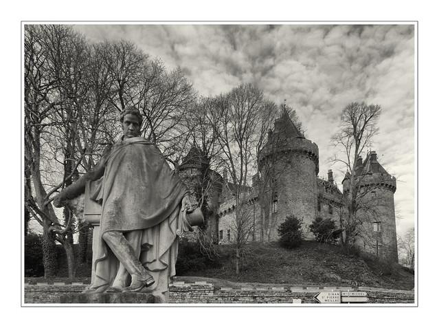 Le calme morne du château de Combourg