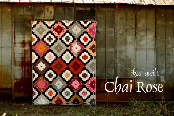 Ikat quilt for Color Intensive