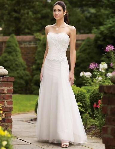 Strapless-Sexy-White-Sheath-column-Taffeta-Wedding-Dress