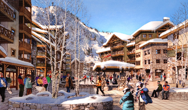 Rendering of new Village of Squaw plan