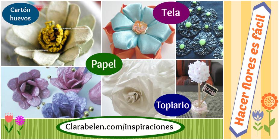 Como hacer flores de materiales diferentes