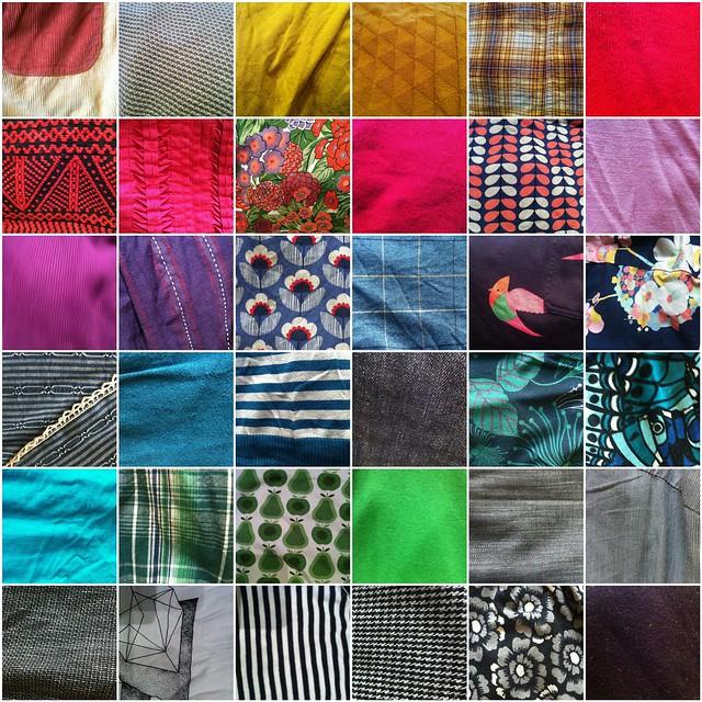 fabric in my wardrobe