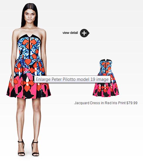 cute & little blog | #PeterPilottoforTarget | jacquard dress in red