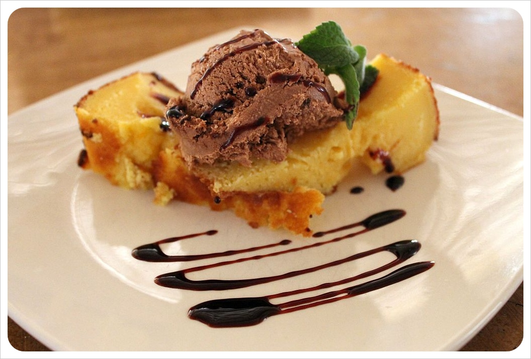san pedro de atacama cake with ice cream