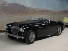 automobile, jaguar xk120, vehicle, austin-healey 100, classic car, land vehicle, sports car,