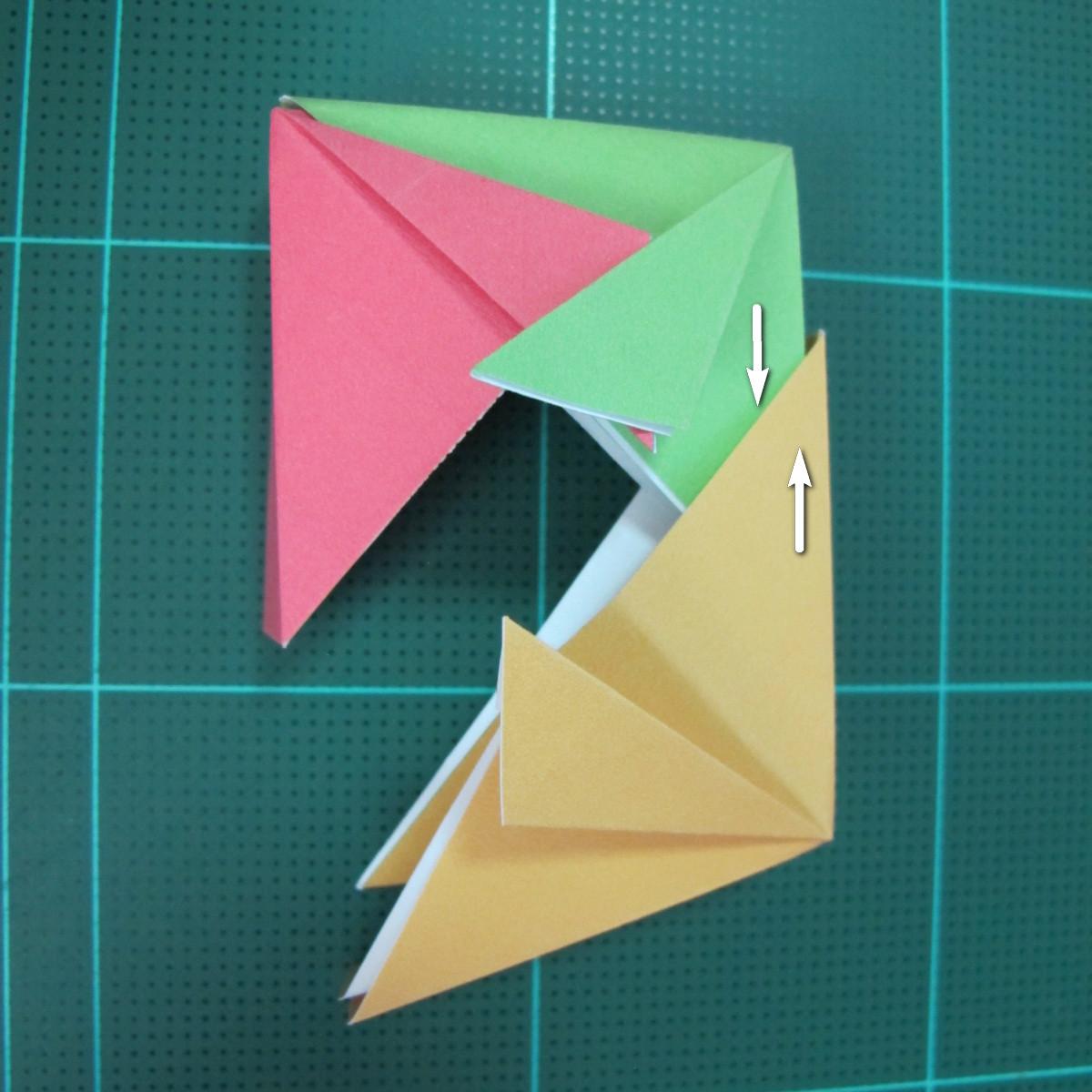 วิธีพับกล่องของขวัญแบบโมดูล่า (Modular Origami Decorative Box) โดย Tomoko Fuse 029